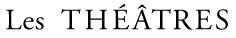 Logo Les Théâtres